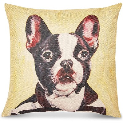 Dog Throw Pillow Cover, Decorative Pet Home Decor (18 x 18 In)