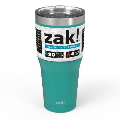 Zak! Designs 30oz Double Wall Stainless Steel Tumbler - Teal