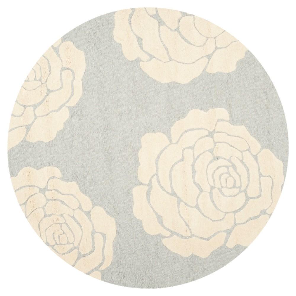 Safavieh Connor Area Rug - Grey / Ivory ( 6' Round ), Gray/Ivory