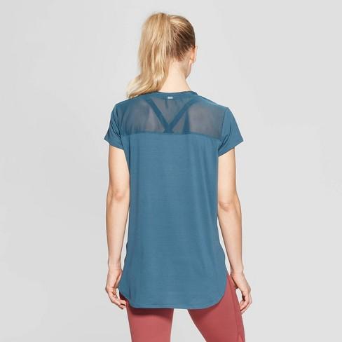 b2b2acc567c688 Women s Short Sleeve Power Mesh T-Shirt - C9 Champion® Jade XXL   Target