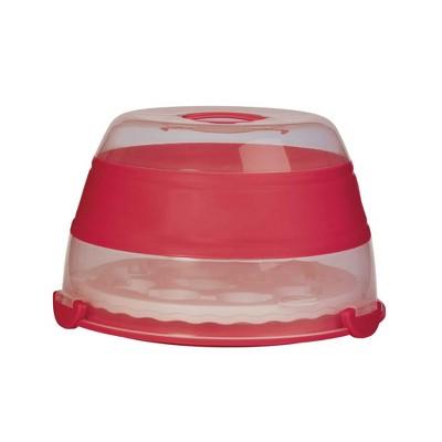 Progressive International BCC-1 Prepworks Collapsible Cupcake Carrier, Red