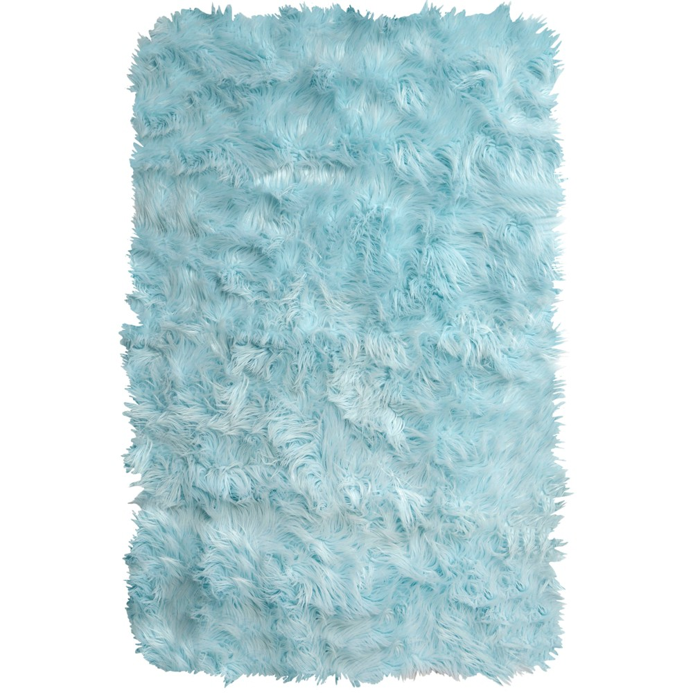 "Image of ""Elle Kids 1'11""""x2'11"""" Arctic Shag Accent Rug Blue - Home Dynamix"""