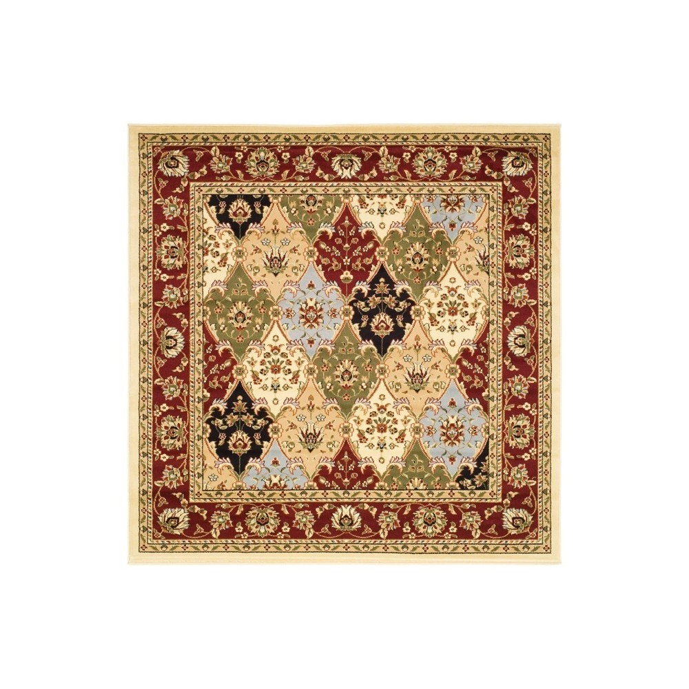 Red Floral Loomed Square Area Rug 8 X8 Safavieh