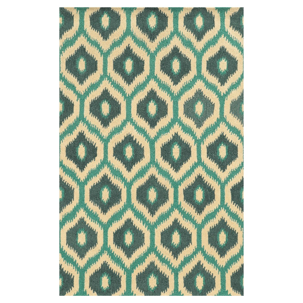 Image of 8'X10' Ikat Design Trellis Area Rug Off-White - Rizzy Home, off White