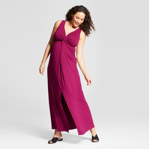 71b64015a58cd Maternity Knit Crossover Maxi Dress - Isabel Maternity by Ingrid & Isabel™