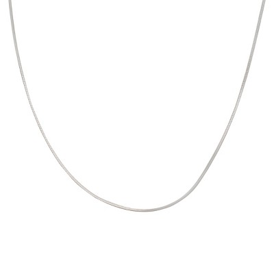 "Sterling Silver Snake Chain Necklace - Silver (24"")"