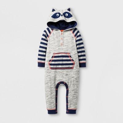 Baby Boys' Raccoon Romper - Cat & Jack™ Gray 18 Months