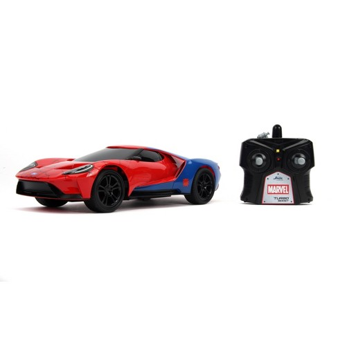 Jada Toys Marvel Spider-Man RC 2017 Ford GT Remote Control Vehicle 1:16 Scale Glossy Red - image 1 of 4