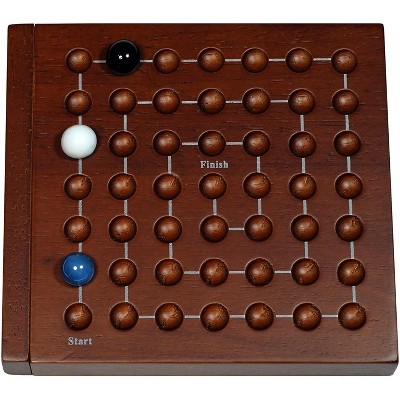WE Games Cat & Mouse Wooden Travel Game with Marbles - 5 inches