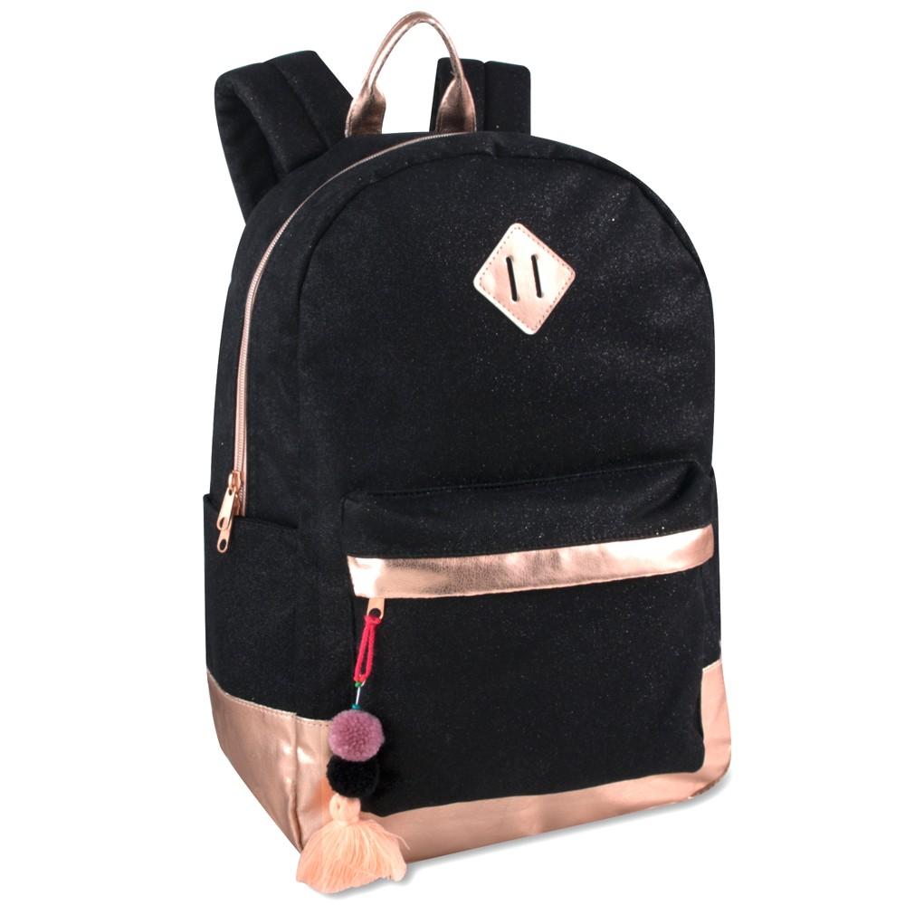 17.5 Glitter Fashion Backpack - Black/Rose Gold, Gold Shimmer 17.5 Glitter Fashion Backpack - Black/Rose Gold Color: Gold Shimmer. Gender: Female. Pattern: Splatter.