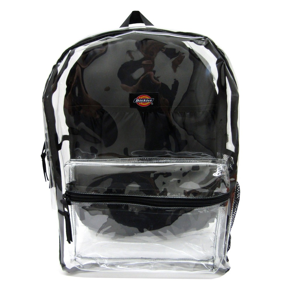 "Image of ""Dickies 17"""" Clear Student Backpack - Clear/Black"""
