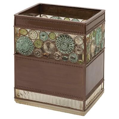 Boddington Resin Artisan Waste Basket Bronze - India Ink
