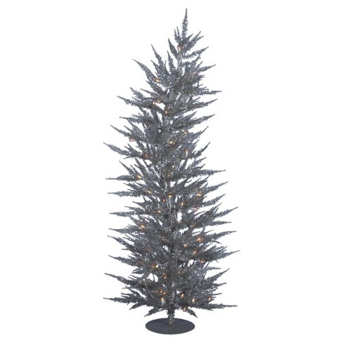 3ft Pre-Lit LED Pine Artificial Christmas Tree Slim with White Lights - image 1 of 1