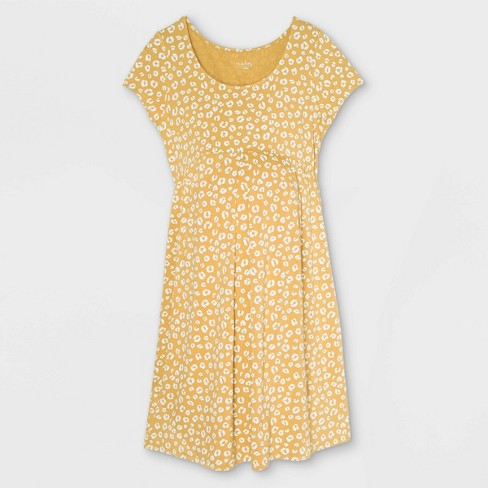 Short Sleeve Pleated Front A-Line Maternity Dress - Isabel Maternity by Ingrid & Isabel™ - image 1 of 2