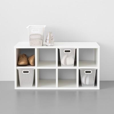 Closet Starter Kit - 8 Bin Shoe Organizer With 4 Slim Metal Shoe Boxes - Made By Design™