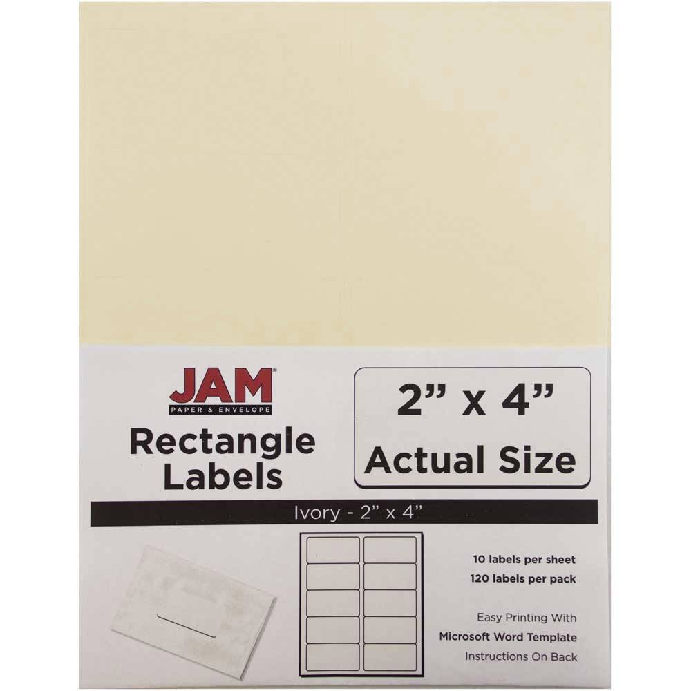 """Image of """"JAM Paper Mailing Labels 2"""""""" X 4"""""""" 120ct - Ivory"""""""