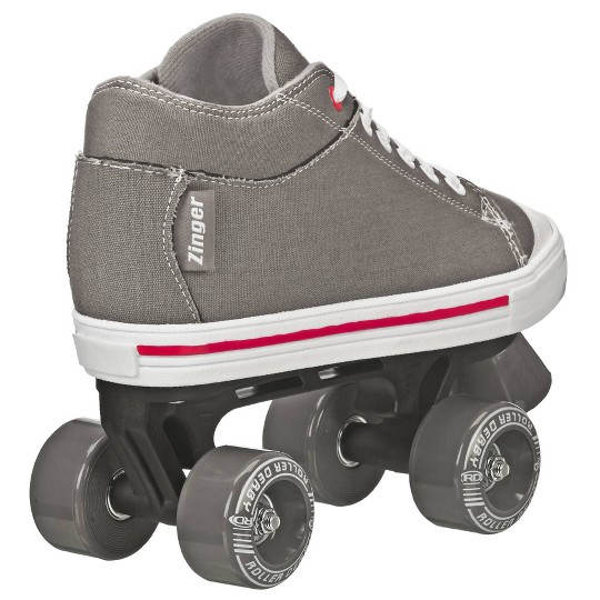 Roller Derby Zinger Boy's Roller Skate - Black/Gray - 2, Boy's image number null