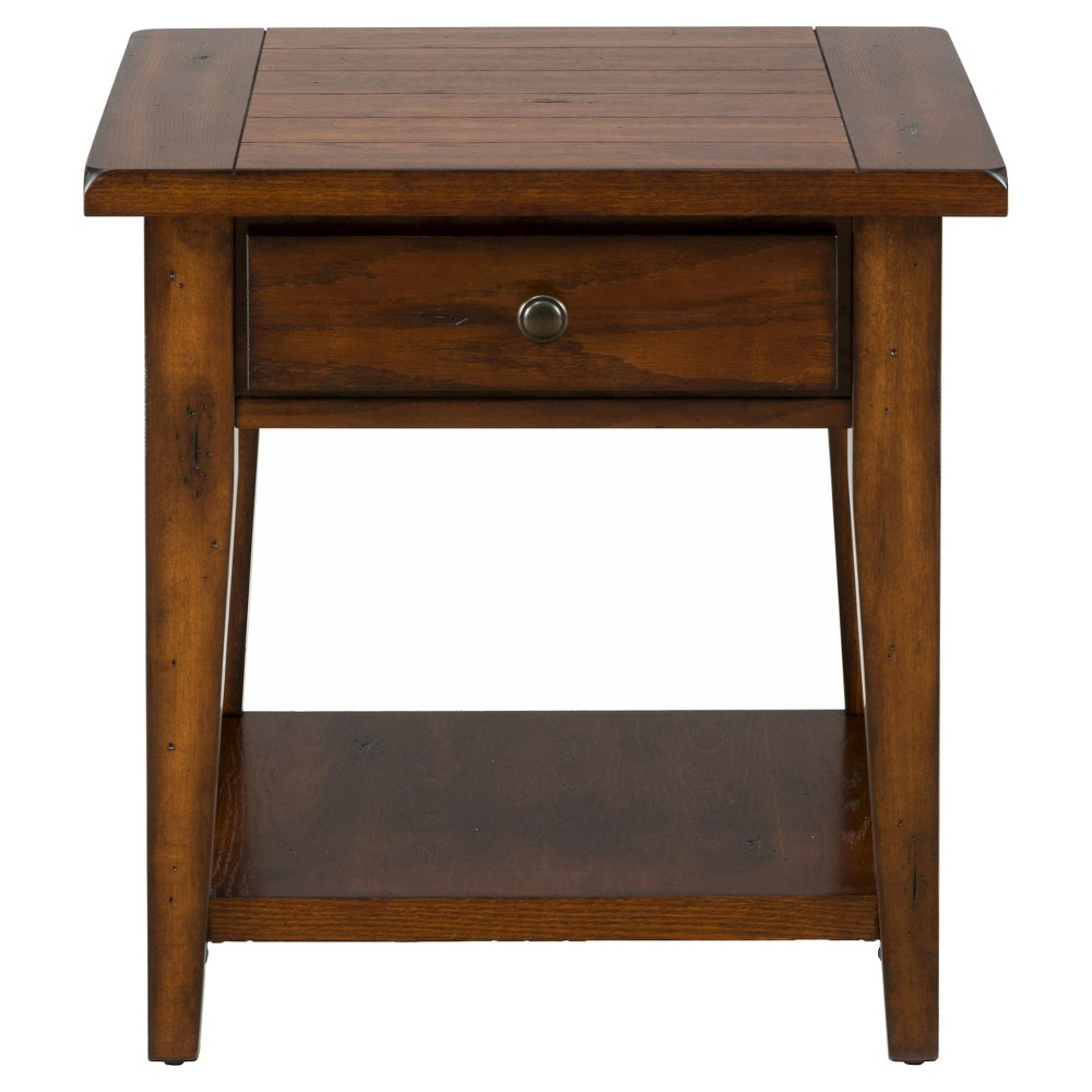 Image of Clay County End Table Medium Brown - Jofran Inc.