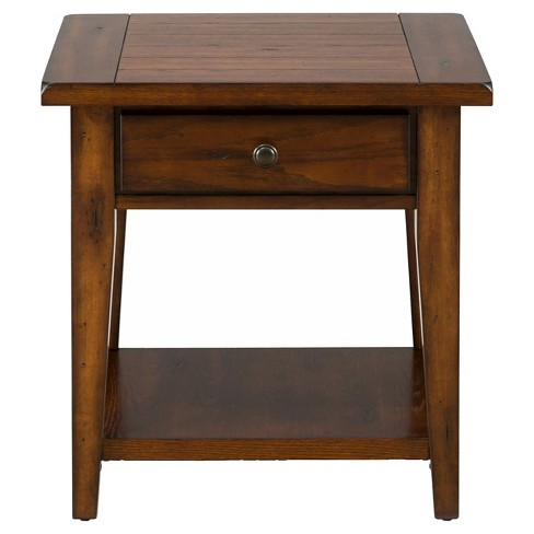 Clay County End Table Medium Brown - Jofran Inc. - image 1 of 3