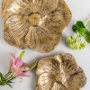 "2pc 2"" Metal Sculpted Flower Trays Gold - Foreside Home & Garden - image 4 of 4"