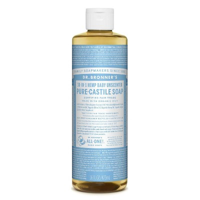 Dr. Bronner's Baby Unscented Pure-Castile Liquid Soap - 16oz