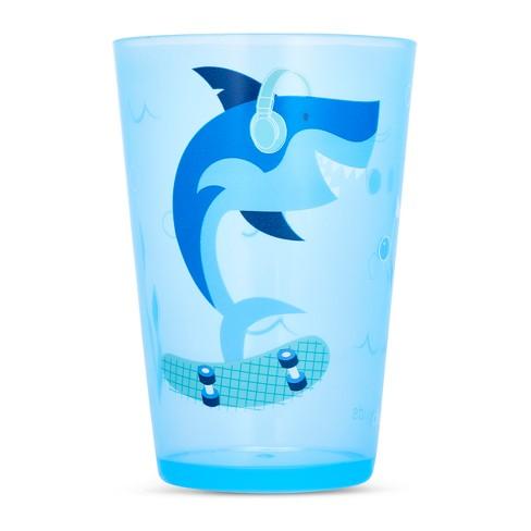 Cheeky Plastic Kids Tumbler 8.5oz Shark - Blue - image 1 of 2
