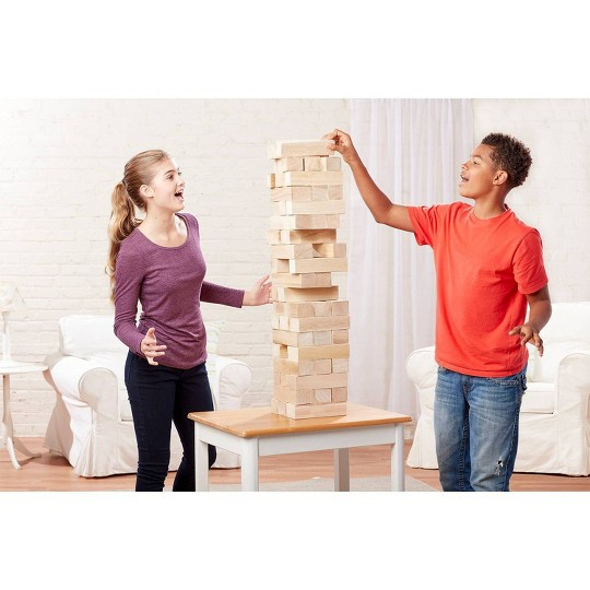 Cardinal Giant Jumbling Tower Game, Adult Unisex image number null