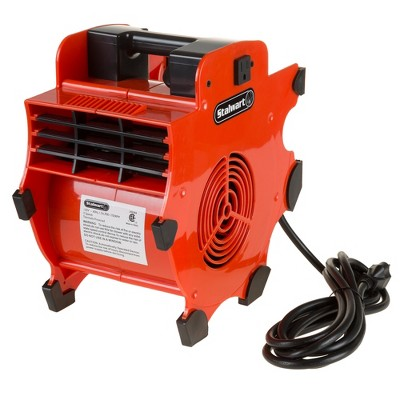 Stalwart Portable Adjustable Blower with 3 Speed Industrial Fan RED