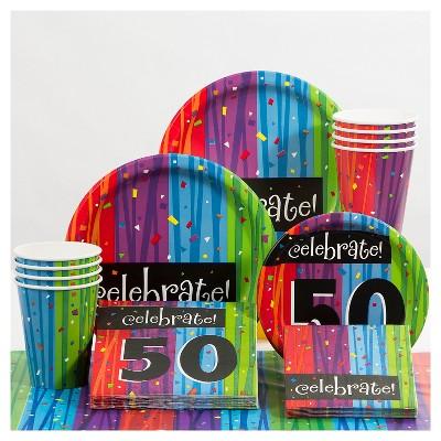 Milestone Celebrations 50th Birthday Party Decorations Kit Target