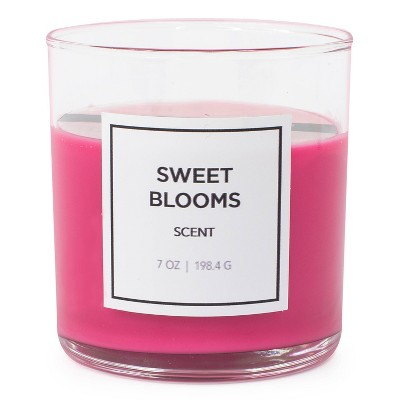 7oz Glass Jar Sweet Blooms Candle - Hanna's Candle Co