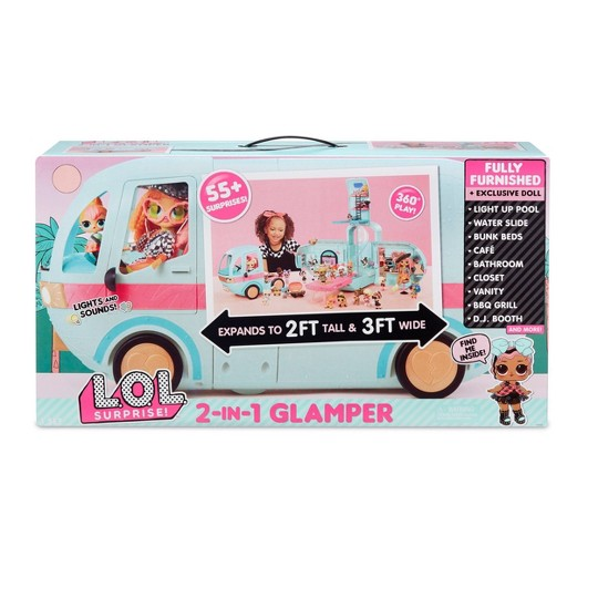 L.O.L. Surprise! 2-in-1 Glamper Fashion Camper with 55+ Surprises image number null