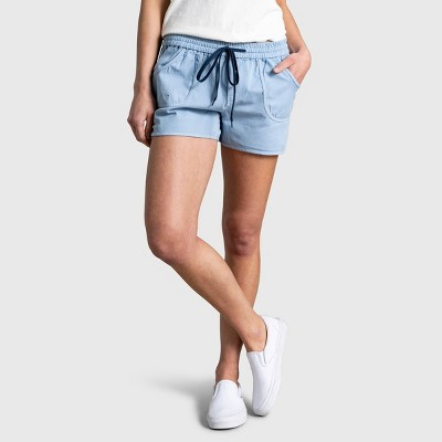 "Women's United By Blue 3"" Organic Chambray Pull-On Shorts - Chambray Indigo"