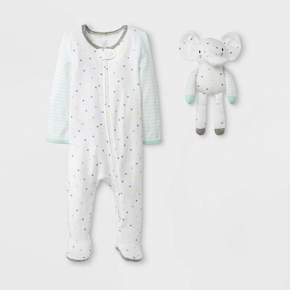 Baby 2pc Sleep N' Play - Cloud Island Newborn, Newborn Unisex, Green
