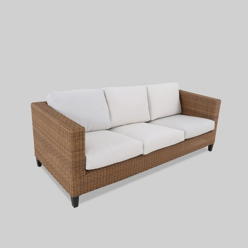 Fullerton Steel Wicker Patio Sofa With Cushions Project 62