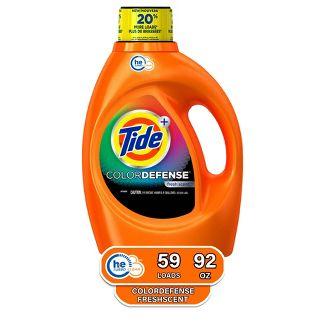 Tide Color Defense Fresh Scent HE Turbo Clean Liquid Laundry Detergent - 92 fl oz