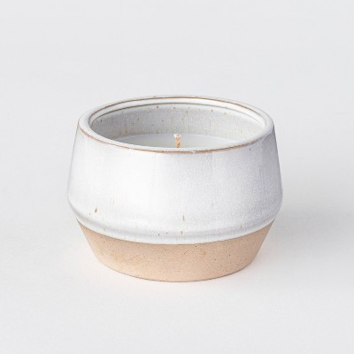 5oz Textured Ceramic Jar Candle Sandalwood & Tobacco - Threshold™ designed with Studio McGee