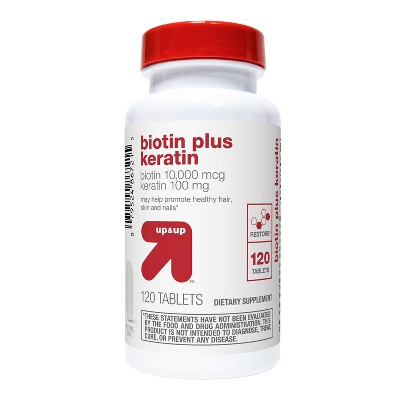 Biotin with Keratin Dietary Supplement Tablets - 120ct - up & up™