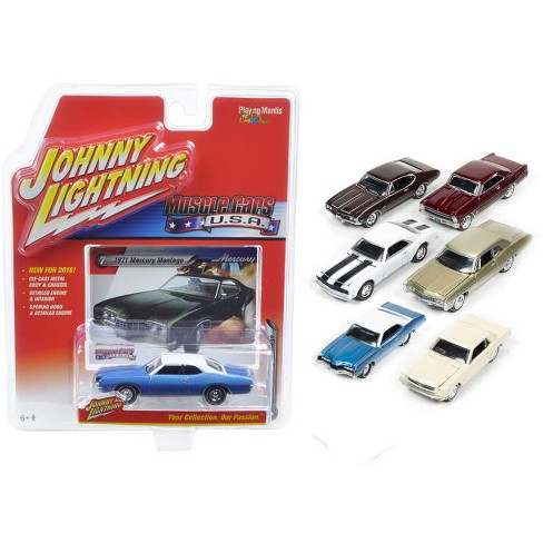 Muscle Cars USA Set of 6 Cars 1/64 Diecast Models Cars by Johnny Lightning