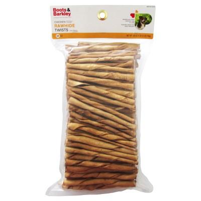 Chicken Flavored Rawhide Twist Sticks - 28oz - Boots & Barkley™