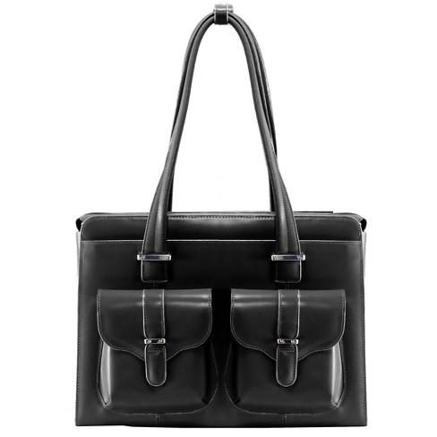"McKlein Alexis 14"" Leather Ladies' Laptop Briefcase - Black - image 1 of 4"