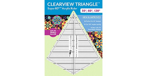 Clearview Triangle Super 60 Degree Acrylic Ruler : 30 Degrees, 60 Degrees, 120 Degrees (Accessory) - image 1 of 1