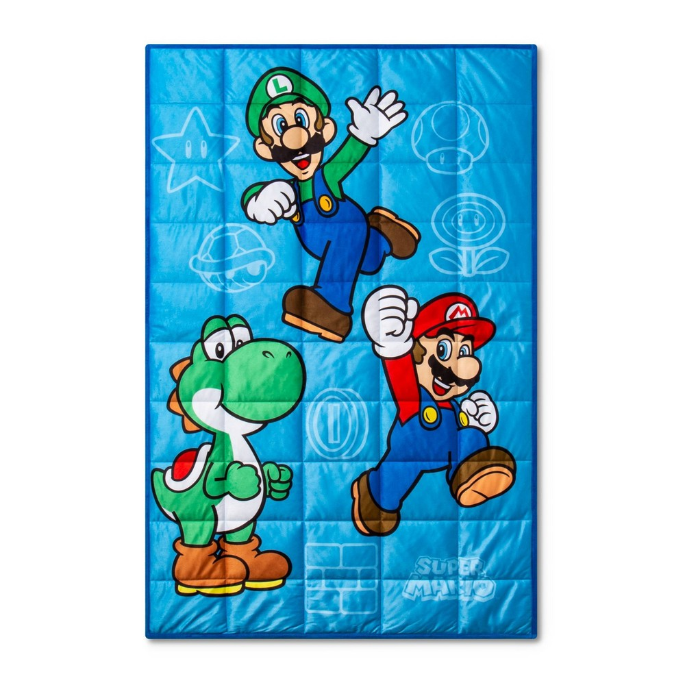 Image of Mario 5lbs Weighted Blanket