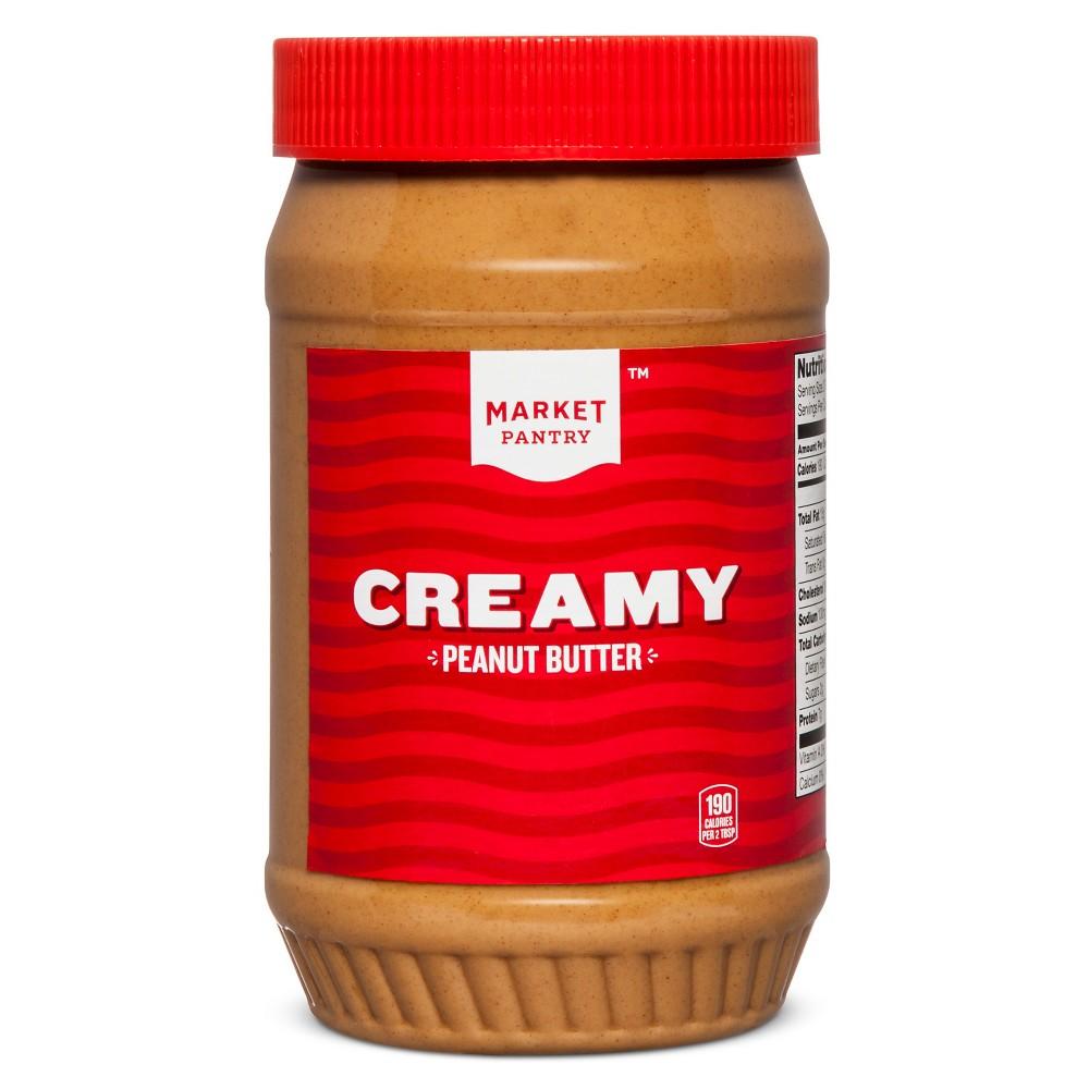 Creamy Peanut Butter - 40oz - Market Pantry