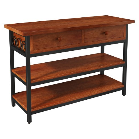 """48"""" Artesian Wide TV Stand Brown - Alaterre Furniture - image 1 of 7"""