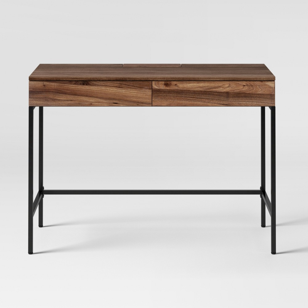 Buy Loring Wood Writing Desk with Drawers Walnut - Project 62