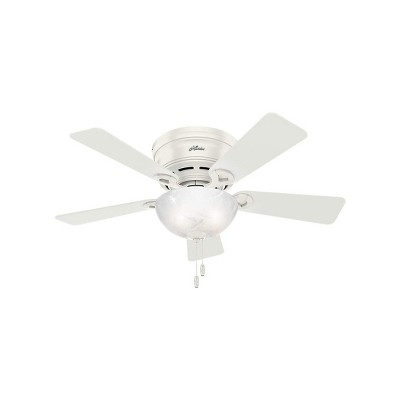 Hunter Fan Company 42-Inch Haskell Low Profile Indoor Living Room Ceiling Fan with Light, Fresh White