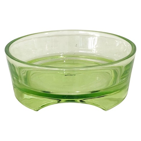 Glass Dog Bowl