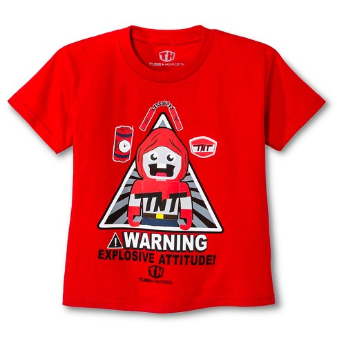 Tube Heroes® Boys' Short Sleeve T-Shirt Red - XS - image 1 of 1