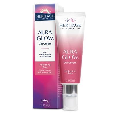 Heritage Store Aura Glow Gel Cream - Hydrating Rose - 1.7oz