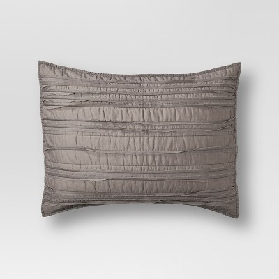 Gray Raw Edge Quilted Sham (Standard)- Threshold™